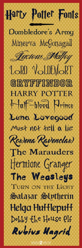 Look at all the great Harry Potter inspired free fonts! Perfect for our birthday party invites and scrapbook pages! Includes a new Fantastic Beasts and Where to Find Them Font!