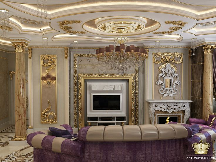 Luxury Classic And Eclectic Living Room Designed By