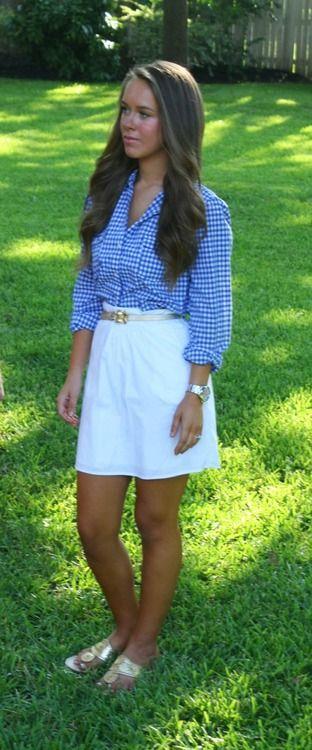 Definitely need a white skirt like this for summer.