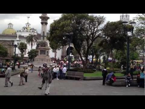 Plaza de Armas of Quito on a regular day