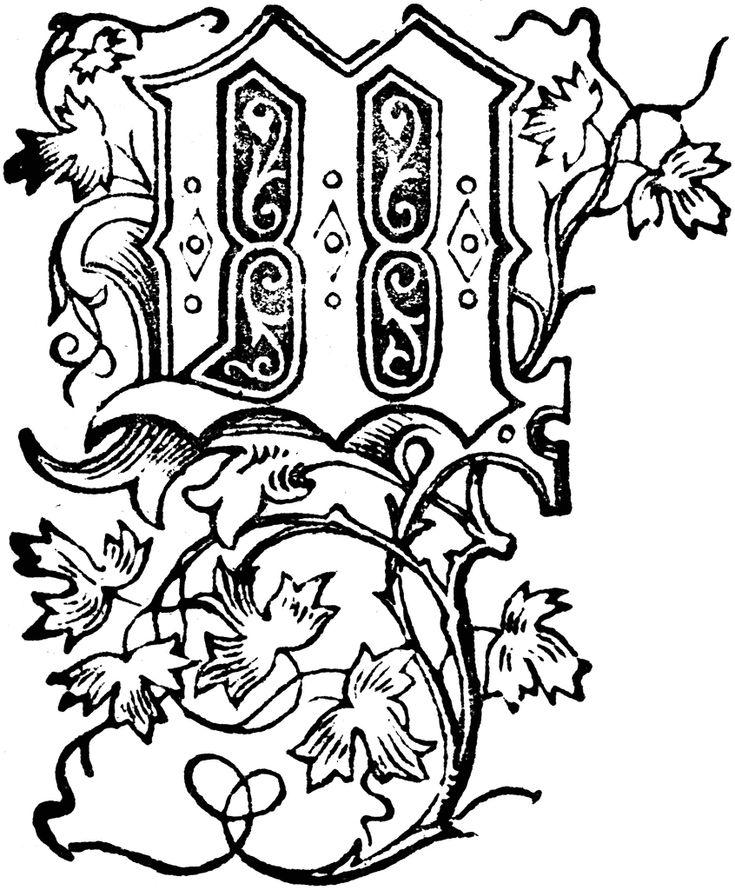 Floral Capital Letter J