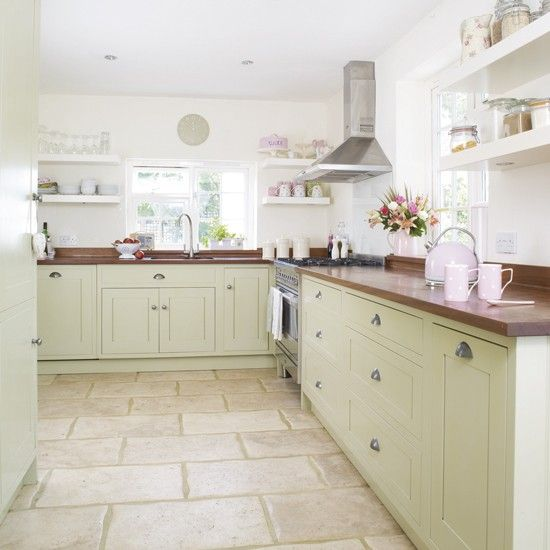 Minty green kitchen | Green kitchen colour ideas - home trends | housetohome.co.uk
