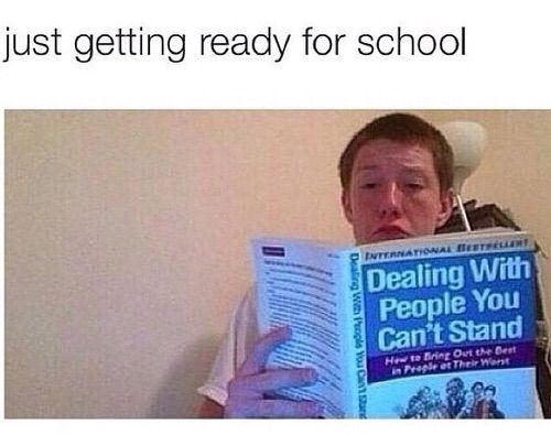 Image via We Heart It #funny #school #teenager