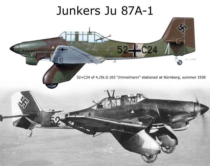 "Junkers Ju 87A-1 - 52+ C24, 4° St.G 165 ""Immelman"", Norimberga 1938"