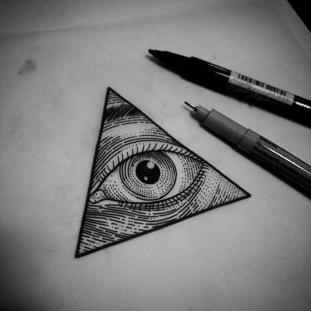 Illuminati Triangle Tattoo 25+ best ideas ...