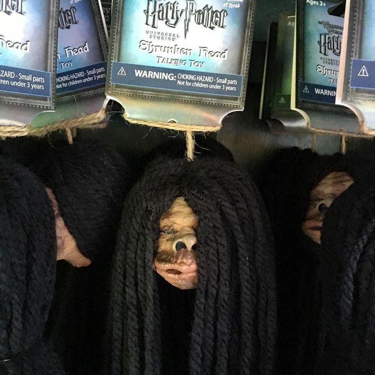 Talking Shrunken Heads for sale at Wizarding World at Universal Orlando…