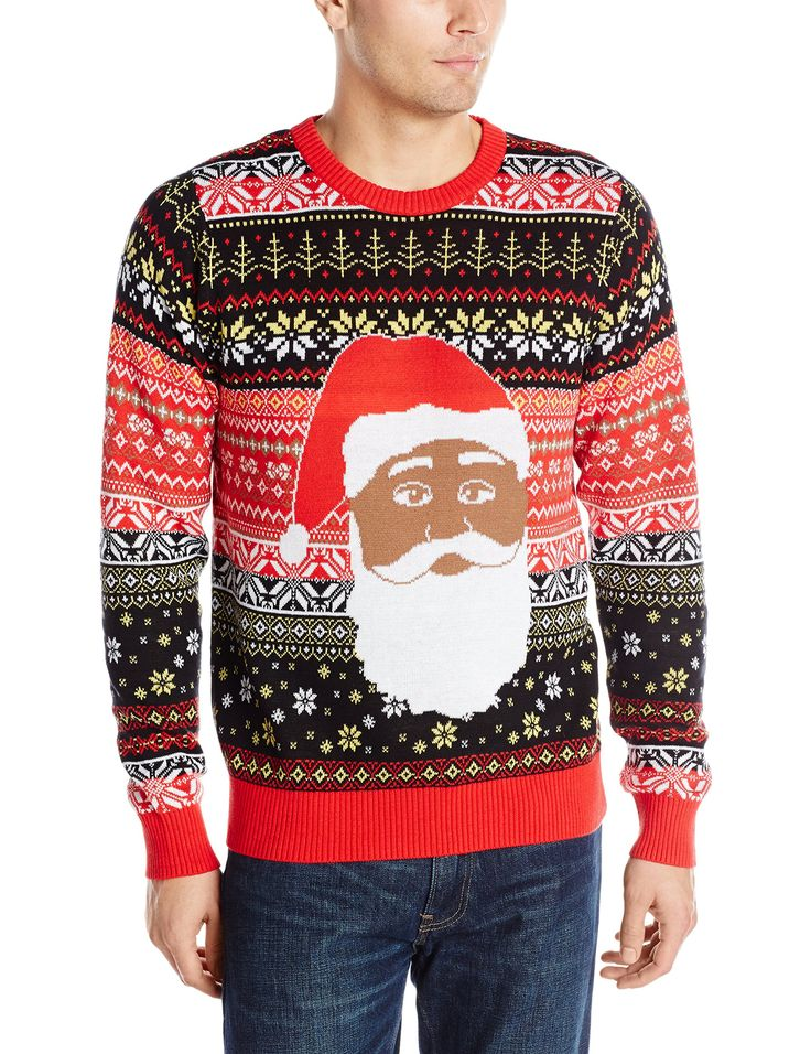 Black Santa Ugly Christmas Sweater | The Best Ugly Christmas ...