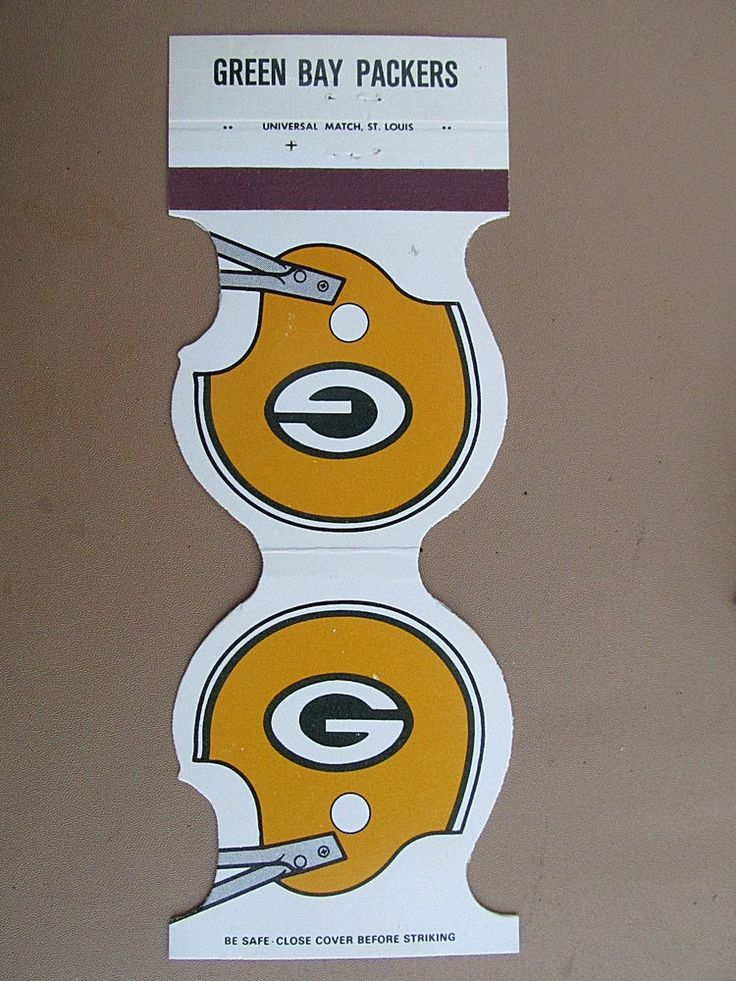 Green Bay Packers 1979 Football Schedule Die-cut/Contour Sports Matchbook Cover