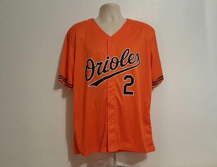 J.J. Hardy #2 Baltimore Orioles Orange MLB Jersey Men's XL #Orioles #BaltimoreOrioles
