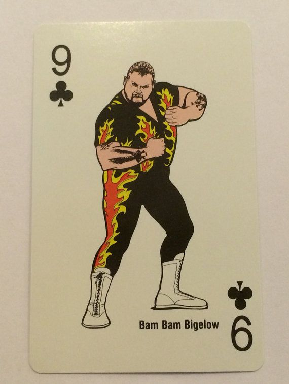 1988 WWF Bam Bam Bigelow Single Playing Swap Card - TripleGCollectibles, $2.00