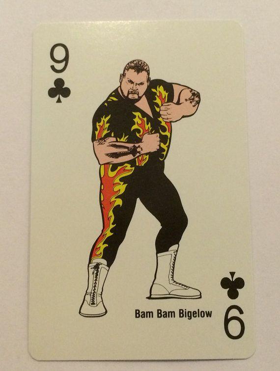 1988 WWF Bam Bam Bigelow Single Playing Swap Card - TripleGCollectibles, $2.00