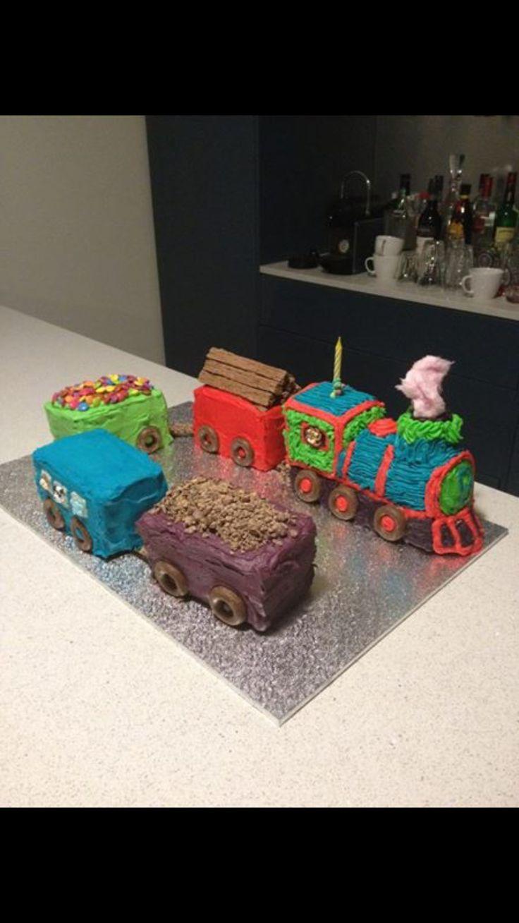 Train themed birthday cake made for my little man's 1st Birthday xxx
