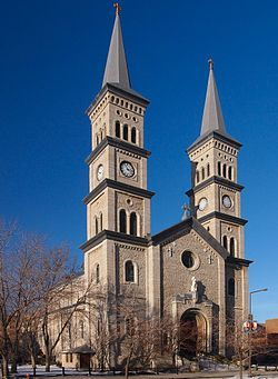 The Church of the Assumption Catholic Church was dedicated in 1874 and is the oldest existing church in Saint Paul in the state of Minnesota (U.S.). It is located at 51 West Seventh Street, in downtown Saint Paul. The building is listed on the National Register of Historic Places.[1]