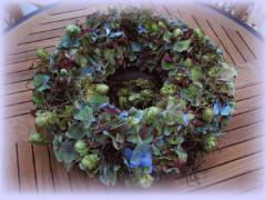 hortensia krans maken hortensiabloemen gebruiken bloemenkrans hortensia's bloemen drogen bloemschikken bloemstuk maken krans Hydrangea flowers