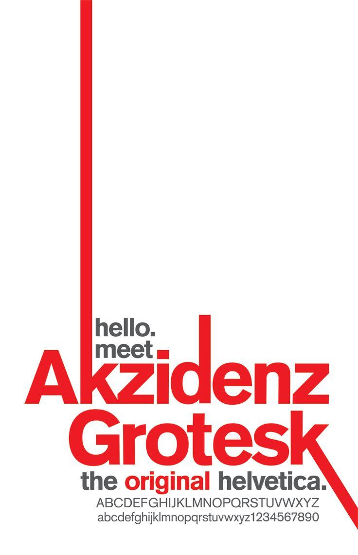 Akzidenz Grotesk, la tipo Helvetica original.