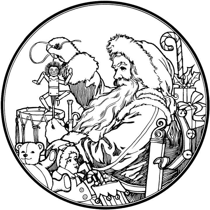 santa claus coloring pages 4 free patterns yarn - Santa Claus Color Pages 2