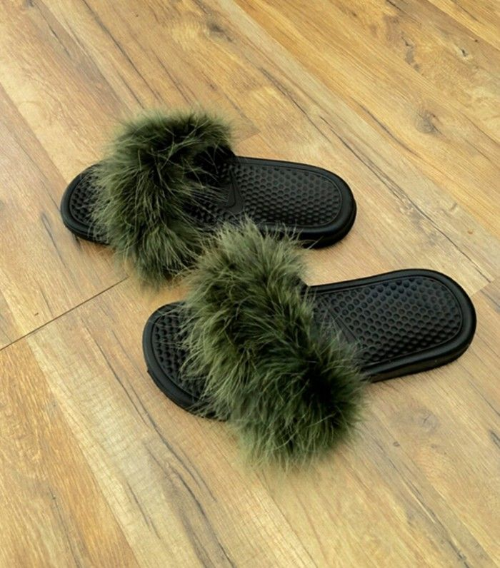 So Rihanna's Fur Slides Sold Out in No Time via @WhoWhatWearUK