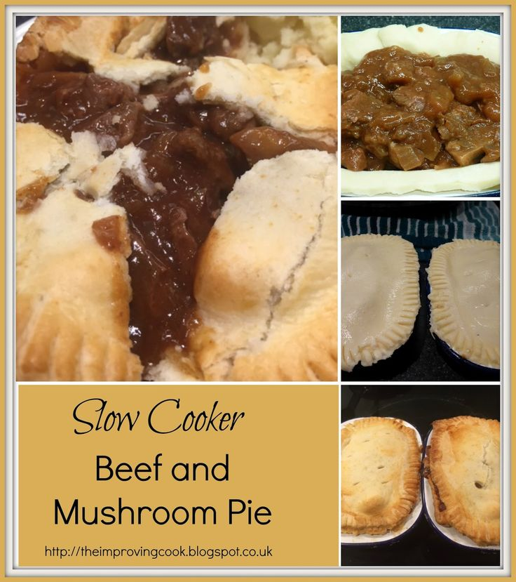 Beef And Mushroom Pie on Pinterest | Steak and mushroom pie, Steak pie ...