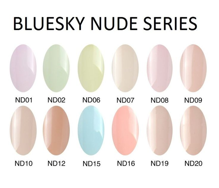 ♥ Bluesky NUDE Series UV/LED Soak Off Gel Manicure Pedicure Nail Polish 10ml ♥