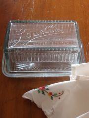 Cut glass Louella Butter Dish - the perfect size for Australian 250g butter pats.