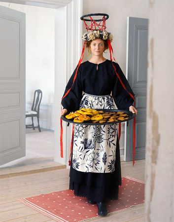 St Lucia Swedish Traditional Yuletide Costume