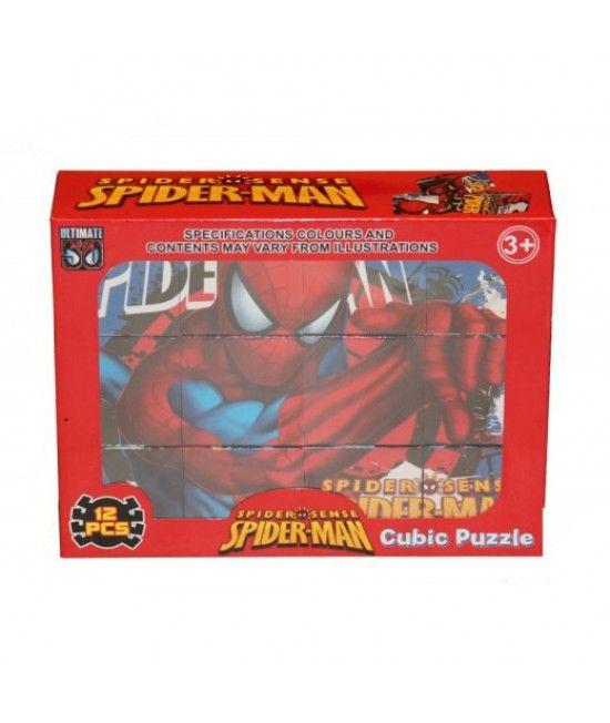 Este un puzzle cubic format din 12 piese, ce il ilustreaza pe Spiderman in 6 ipostaze !  Puzzle-ul ajuta la dezvoltarea psihica si cognitiva a copilului, de asemenea il ajuta la imbunatatirea dexteritatii! Reprezinta un mod placut si distractiv de petrece