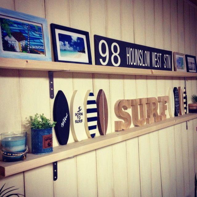 西海岸/ハンドメイド/男前 インテリア/BEACH♥︎/サーフボード/surf…などのインテリア実例 - 2015-04-03 20:06:33   RoomClip(ルームクリップ)