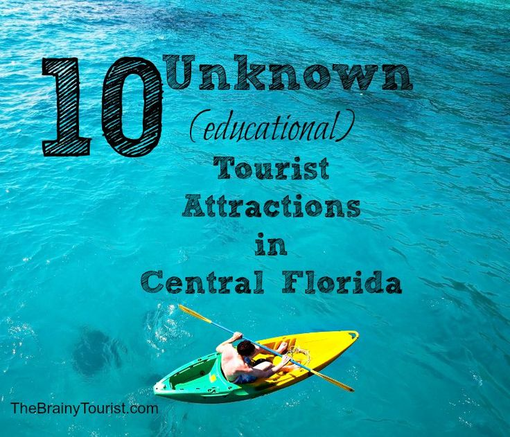 Are you looking for something different and educational to do on your Central Florida vacation? Check out Top 10 Unknown Educational Tourist Attractions!