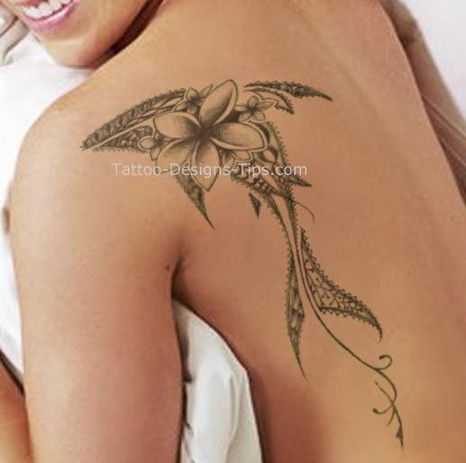 Feminine+Shark+Tattoo   Girls Shoulder Tattoo Designs For Women 2 #flowertattoosonback