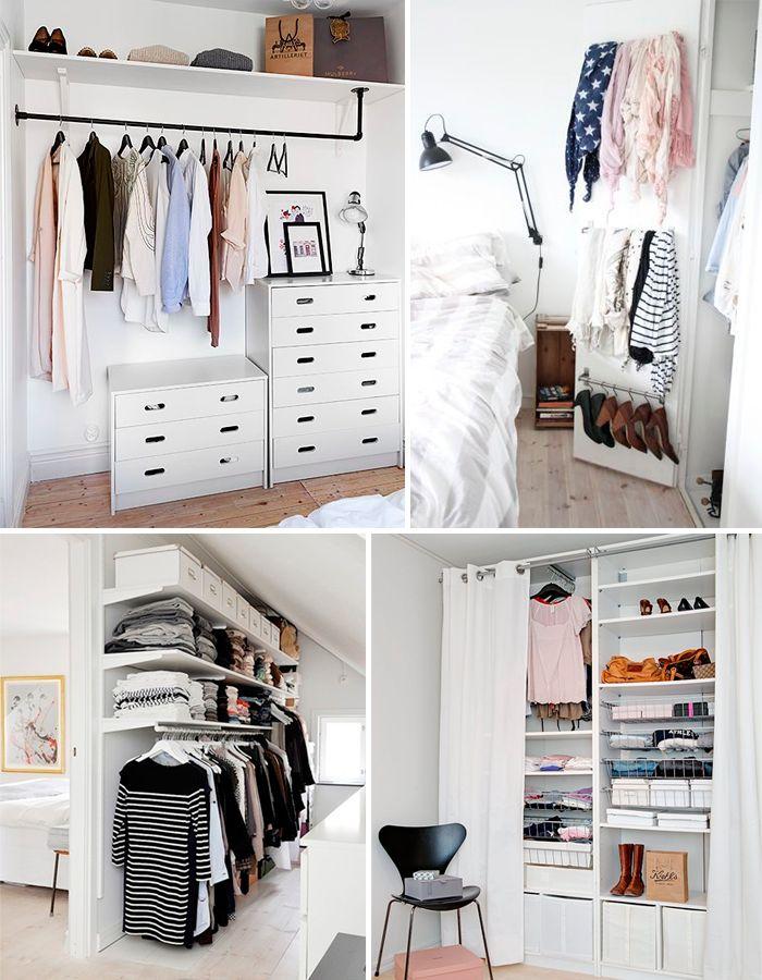 M s de 25 ideas incre bles sobre closet para cuartos for Repisas en espacios pequenos