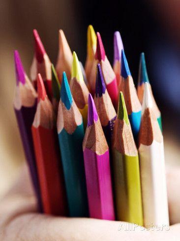 Coloured Pencils Photographic Print
