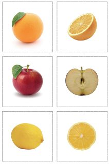 I just finished this new set of cards for matching the inside and outside of different fruits. You can print them out, laminate them and pl...