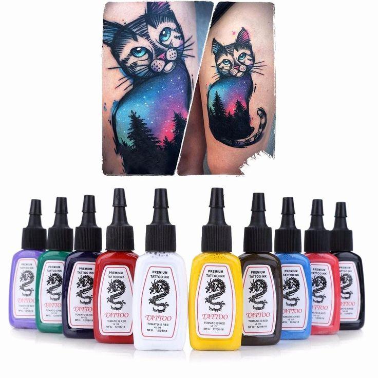 Coloriage Prix De Tatouage Meilleur De La Vente En Gros 10pcs Ensemble Des Couleurs Lumineux Durant Plete Ta …   – Example Tattoo Drawing