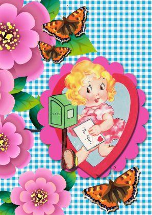 ♥Kaartje2go - Valentijnskaarten - Lieve Vintage Kaart