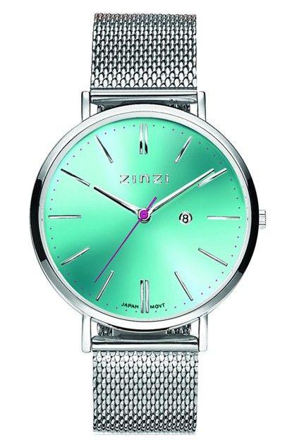 Zinzi Horloge  + Gratis armbandje ZIW411M. Zinzi Dameshorloge met gratis zilveren Armbandje. Het nieuwe trendy horloge is vrolijk, trendy en tijdloos tegelijk. Geïnspireerd op de 'seventies', maar met de bekende Zinzi touch ontworpen.