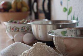 Baking in a Pyrex bowl.