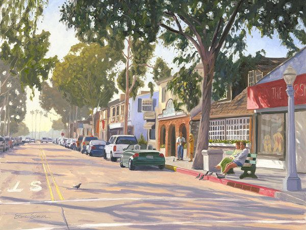 Marine Avenue Balboa Island Print by Steve Simon.  All prints are professionally printed, packaged, and shipped within 3 - 4 business days. Choose from multiple sizes and hundreds of frame and mat options.