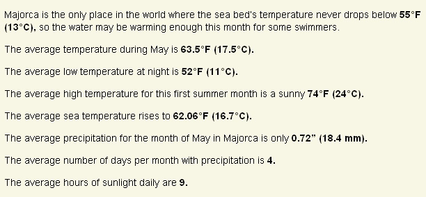 Weather in May