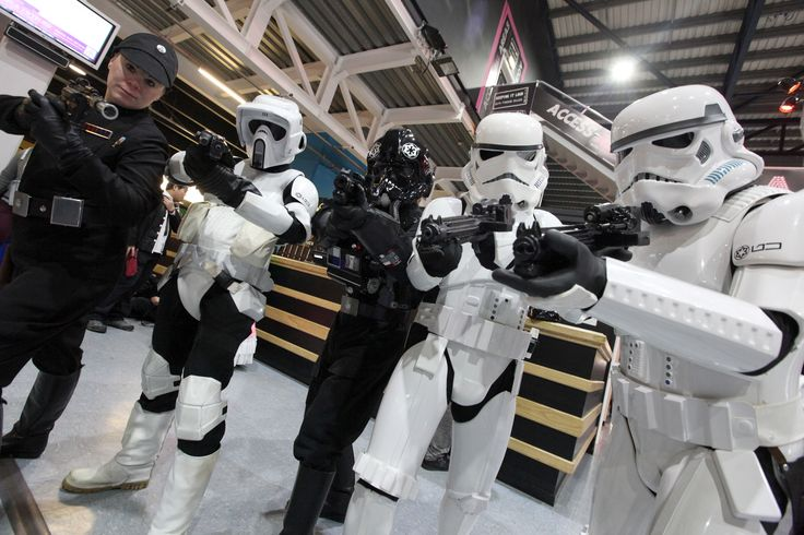 Costumes and characters at Newcastle Comic Con 2014. #Starwars #Stormtrooper #TIE #TIEFighterPilot #ImperialOfficer #99thGarrison #NFCC #Cosplay