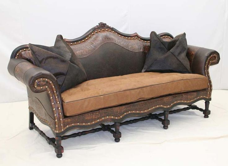 Old Hickory Tannery Big Easy Western Sofa Western Sofas