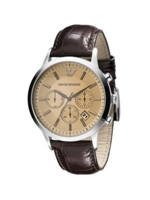 Leather Chronograph Watch from Emporio Armani