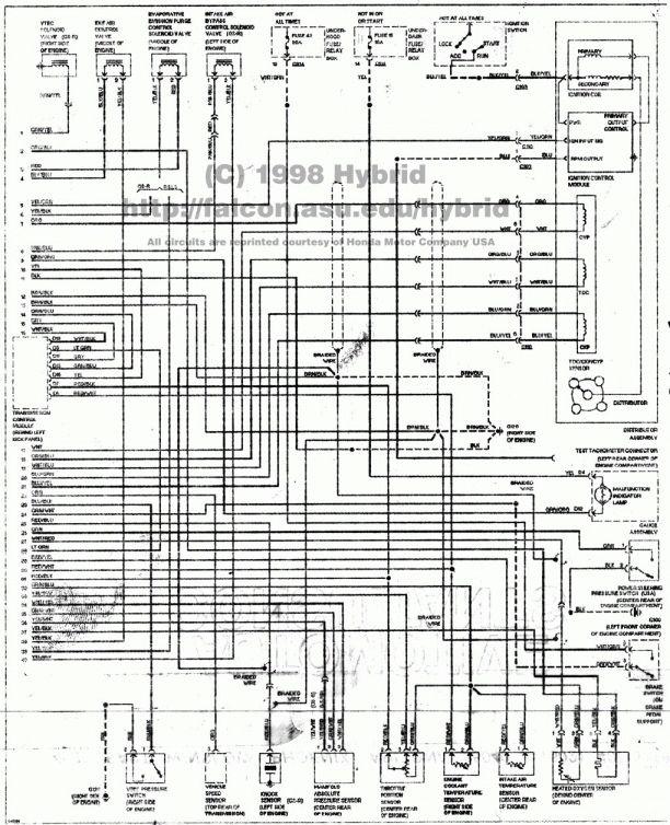 12 99 Honda Civic Engine Wiring Diagram Honda Civic Engine Honda Civic Honda