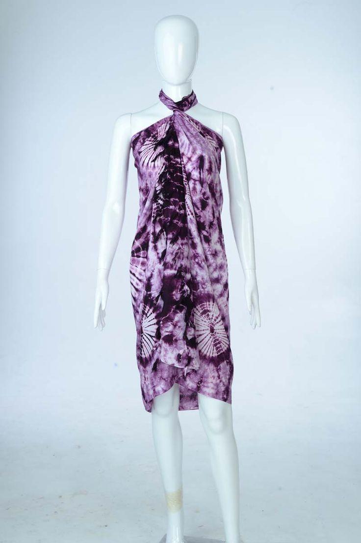 Sure Design Clothing Style - Womens Scarf-Tye Dye Scarf- Purple - Thai Style