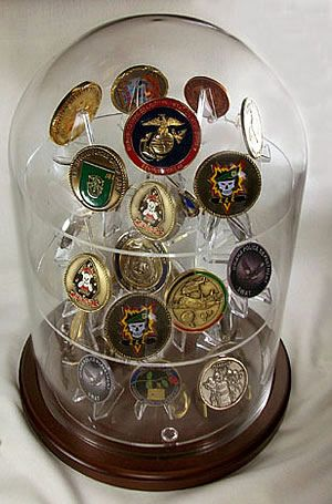 Coolest coin display I have seen.  Would love to be able to make one for my soldier!