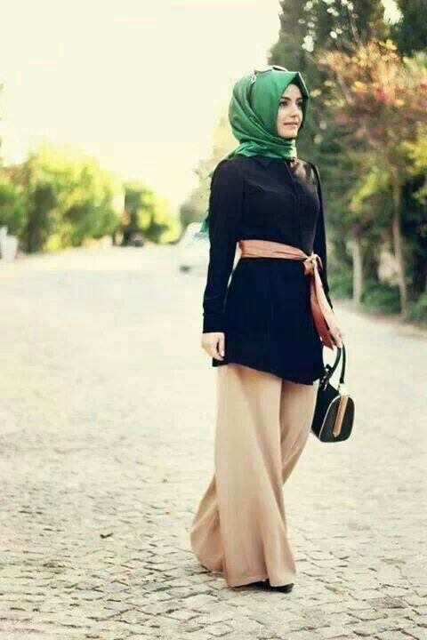 wide leg modest pants