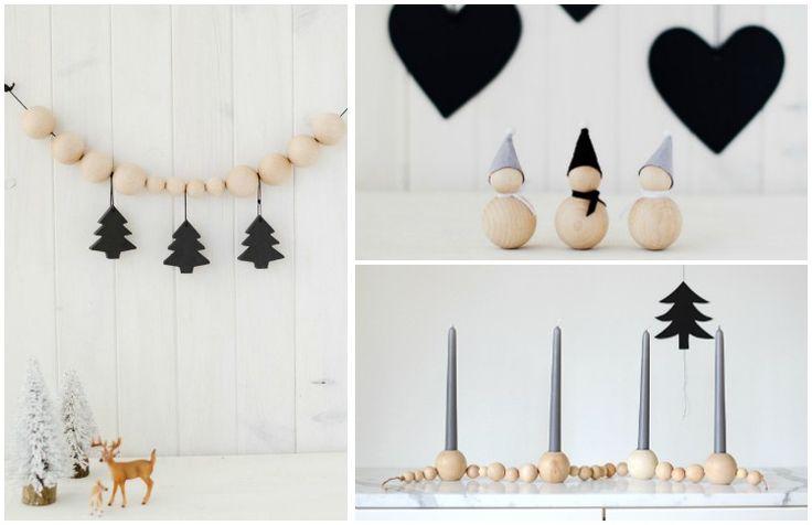 Selbergemachte Weihnachtsdeko - interessante Ideen mit Holzperlen