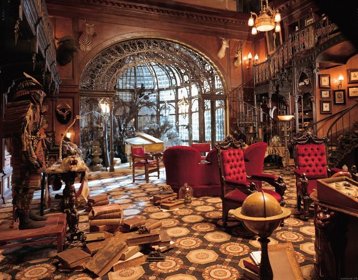 Steampunktendencies The Study Set From Haunted Mansion Steampunk InteriorSteampunk DesignVictorian
