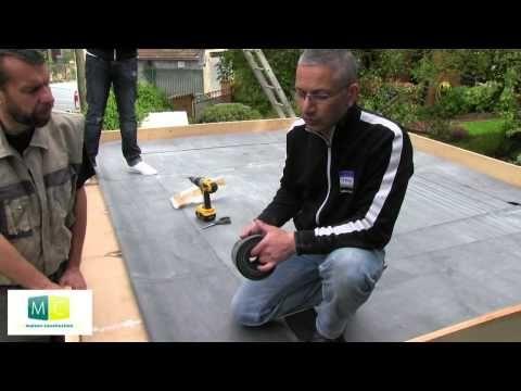 Étanchéité membrane EPDM toiture plate (partie 1/2) - YouTube