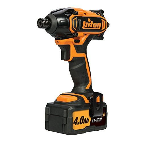 """Triton Cordless Impact Driver 20V T20ID – 100351 Impact driver with quick-release ¼"""" / 6.35mm hex bit holder. For high speed, high torque driving of screws, nuts and bolts. Long-life high performance motor. LED..."""