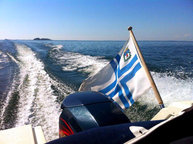 Boating outside of Hanko, Finland